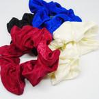 SPECIAL  Lg. Size Jacgard Fabic Hair Scrungi 4 colors .15 each