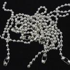 "CLOSEOUT 7"" Silver Ball Chain Bracelets 12 per pk .25 each"