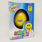 Hatch Your Own EMOJI  Egg 1-dz counter display bx .79 ea