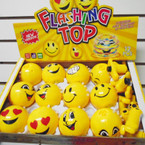 "3"" Rd Emoji Light & Sound Spinning Tops 12 per display bx $ 1.30 each"