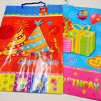 "12.5"" X 18"" X Lg. Size Birthday Theme Gift Bags 12 per pk .54 each"