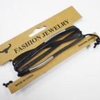 Multi Strand Leather Bracelets w/ Silver Bars   .54 each
