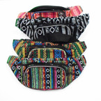 Mixed Color Tribal Print 2 Zipper Fanny Packs $ 2.50 ea