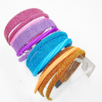 3 Pack Headbands Satin Plus 2 Glitter Only .50 per set of 3