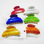 "3.25"" Shiney Finish Fashion Jaw Clips .50 each"