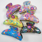 "4"" Paisley Pattern Fashion Jaw Clips .50 each"
