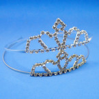 Gold/Silver Rhinestone Tiara Headbands Clear Stones (332) .65 each