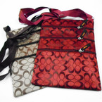 "Hi QUALITY Big 8"" X 10.5"" Designer Look 4 Zipper Side Bag  $ 2.10  each"