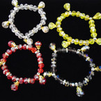 Fashionable Mixed Color Crystal Beaded Stretch Bracelets .54 each