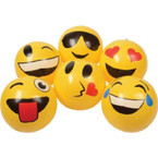 "12"" Emoticon Inflatable Balls  12 per pk .60 each"