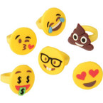 "1"" Emoji Silicone Rings 12 per pack .21 each"