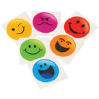 "1.5"" Square Smiley Face Temporary Tattoos 144 per pk .02 each"