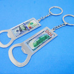 "3"" $ 100 Bill Keychain w/ Bottle Opener 12 per pk .54 ea"