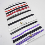 SPECIAL 4 Pack Fashion Choker Sets Asst Colors w/ Heart .58 per set