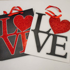 "Best Quality LOVE Theme Glitter Gift Bags 10"" X 13"" Only .56 ea"
