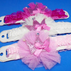 Glitter Princess  Crown Ruffled Headbands .54 each