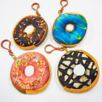 "3.5"" Donut Theme Zipper Coin Purse w/ Clip .50 each"