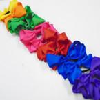 """6"""" Combo Gator Clip & Ponytailer Bows Asst Colors .54 each"""