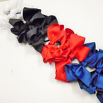 "6"" Combo Gator Clip & Ponytailer Bows 4-Colors as shown  .54 each"