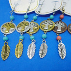 "2.5"" Southwest Look Tree of Life Earrings .56 each"