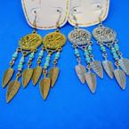 """2.5"""" Cast Gold & Silver  Southwest Look Earrings .56 each"""