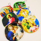 "4"" Velveteen Picture Zipper Coin Purse Jesus & Mother Mary .54 each"
