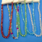 """Colorful 16"""" Glass Crystal Bead Necklaces .60 each"""