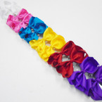 "3.5-4"" Asst Bright Color Gator Clip Fashion Bow .27 ea"