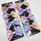 "4 Pack 3"" Unicorn Print Gator Clip Bows .54 per set of 4"