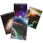 Space Theme Spiral Notebooks 12 per pk .12 each