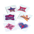 "Princess Theme 1.5"" Temporary Tattoo's 144 per pk .02 each"