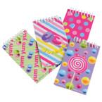 Candy Theme Spiral Notebooks 12 per pk .12 each