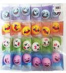"2"" Desk Top Soft Squishy Round Emoji's 24 per pk .25 each"