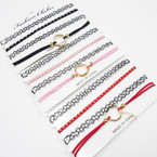 SPECIAL 4 Pack Fashion Choker Sets Asst Colors As Shown .58 per set