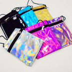 "4"" X 5"" Shiney Metallic Zipper Bag w/ Strap .50 each"