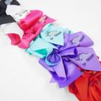 "6"" Gator Clip Bow w/ Stone Unicorn Asst Colors   .54 each"