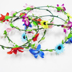 Popular Wire Flower Halo's Asst Colors per dz Great for Easter .54 each