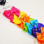 "5.5"" Dbl Layer Gator Clip Bows w/ Sequin Edges .54 each"