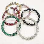 HOT SELLER Designer Inspired Chipped Stone Bangle Bracelets  .58 each