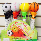 Sport's Theme Pop off Top Novelty Pens 12 per display .54 each