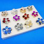 Elegant Crystal & Colored Stone Fashion Rings (408) .54 each