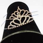 Gold/Silver Rhinestone Tiara Headbands Clear Stones (414) .65 each