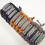 3 Color Leather Bracelets w/ Silver Forgiven PLaque .54 each