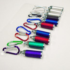 Carabina Clip Keychain w/ Flashlight Asst Colors 12 per pk .56 each