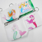 "4"" Cutest Design Mermaid Zipper Keychain Purses .52 each"