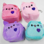 "2.75"" Cat Theme Square Cube Coin Purse w/ Chain .54 each"