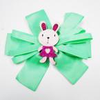 "6"" Ribbon Gator Clip Bows w/ 2.75"" Sparkle Bunny .54 each"