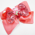 "5"" Gator Clip Bow 2 Layers Sequin w/ Mermaid Asst Colors  .54 each"