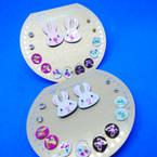 7 Pair Earrings Bunny plus Ear Studs  As Shown .50 per set