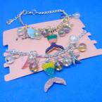 Gold & Silver Chain Mermaid Theme Charm Bracelets .54 each